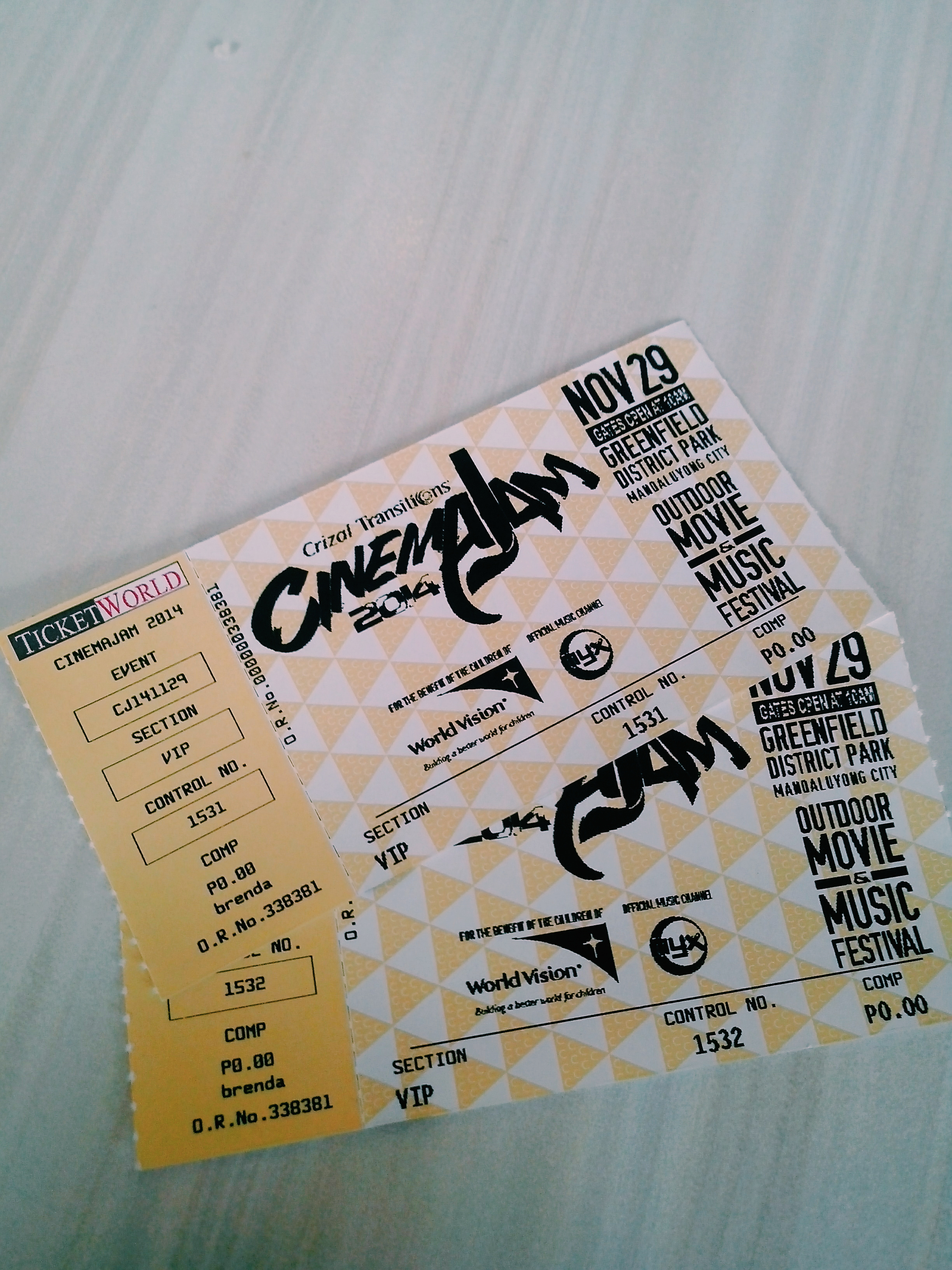 Thank you Kuya Rodel Flordeliz for the tickets :)